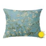 Almond Blossoms (Van Gogh) Outdoor Throw Pillow (Rectangular)