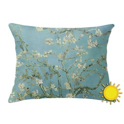 Apple Blossoms (Van Gogh) Outdoor Throw Pillow (Rectangular)