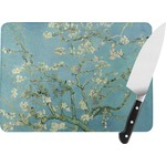 Apple Blossoms (Van Gogh) Rectangular Glass Cutting Board