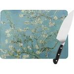 Almond Blossoms (Van Gogh) Rectangular Glass Cutting Board