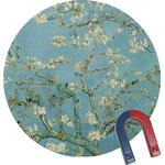 Almond Blossoms (Van Gogh) Round Fridge Magnet
