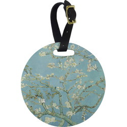 Apple Blossoms (Van Gogh) Round Luggage Tag