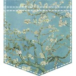 Apple Blossoms (Van Gogh) Iron On Faux Pocket