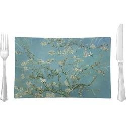 Apple Blossoms (Van Gogh) Glass Rectangular Lunch / Dinner Plate - Single or Set