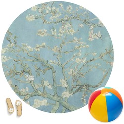 Apple Blossoms (Van Gogh) Round Beach Towel