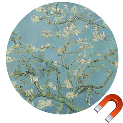 Apple Blossoms (Van Gogh) Round Car Magnet