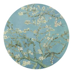 Apple Blossoms (Van Gogh) Round Decal - Small