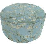 Almond Blossoms (Van Gogh) Round Pouf Ottoman