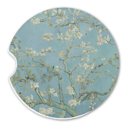 Apple Blossoms (Van Gogh) Sandstone Car Coaster - Single