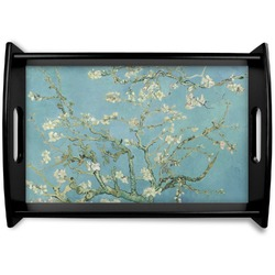 Apple Blossoms (Van Gogh) Black Wooden Tray