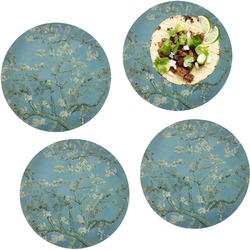 """Almond Blossoms (Van Gogh) Set of 4 Glass Lunch / Dinner Plate 10"""""""