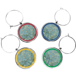 Apple Blossoms (Van Gogh) Wine Charms (Set of 4)