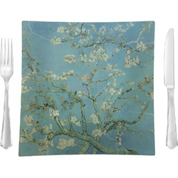 Apple Blossoms (Van Gogh) Glass Square Lunch / Dinner Plate 9.5
