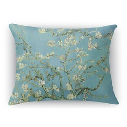 Apple Blossoms (Van Gogh) Rectangular Throw Pillow