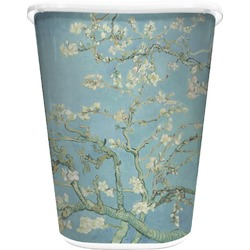 Apple Blossoms (Van Gogh) Waste Basket - Double Sided (White)