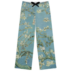Apple Blossoms (Van Gogh) Womens Pajama Pants - XL