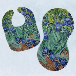 Irises (Van Gogh) Baby Bib & Burp Set