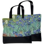 Irises (Van Gogh) Beach Tote Bag
