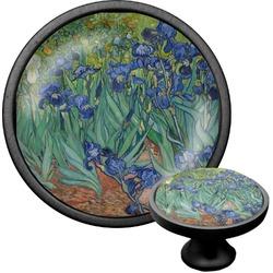 Irises (Van Gogh) Cabinet Knob (Black)