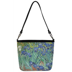 Irises (Van Gogh) Bucket Bag w/ Genuine Leather Trim