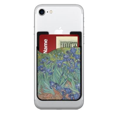 Irises (Van Gogh) 2-in-1 Cell Phone Credit Card Holder & Screen Cleaner