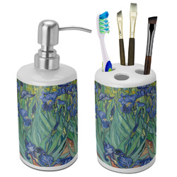 Irises (Van Gogh) Ceramic Bathroom Accessories Set