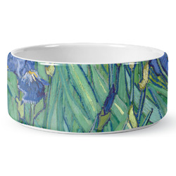 Irises (Van Gogh) Ceramic Pet Bowl