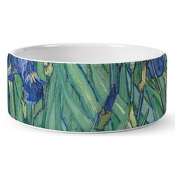 Irises (Van Gogh) Ceramic Dog Bowl