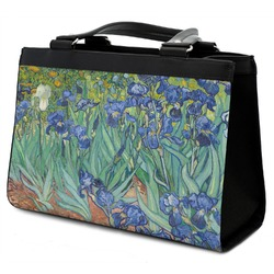 Irises (Van Gogh) Classic Tote Purse w/ Leather Trim
