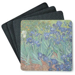 Irises (Van Gogh) Square Rubber Backed Coasters - Set of 4