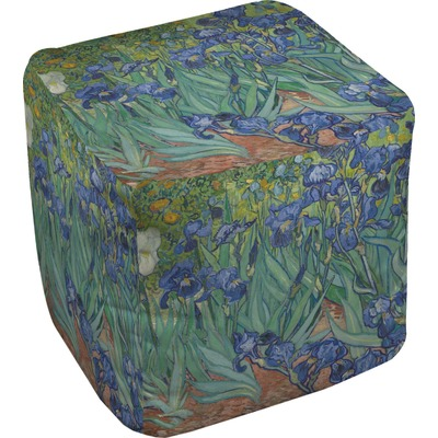 Irises (Van Gogh) Cube Pouf Ottoman