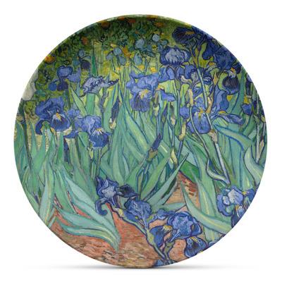 Irises (Van Gogh) Microwave Safe Plastic Plate - Composite Polymer
