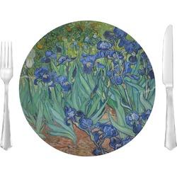 "Irises (Van Gogh) 10"" Glass Lunch / Dinner Plates - Single or Set"
