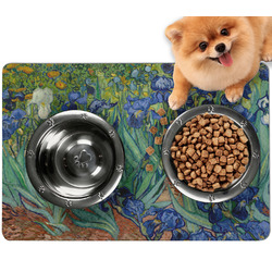 Irises (Van Gogh) Dog Food Mat - Small