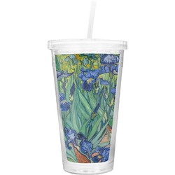 Irises (Van Gogh) Double Wall Tumbler with Straw