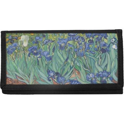 Irises (Van Gogh) Canvas Checkbook Cover