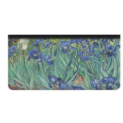 Irises (Van Gogh) Genuine Leather Checkbook Cover