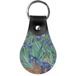 Irises (Van Gogh) Genuine Leather  Keychains