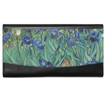 Irises (Van Gogh) Genuine Leather Ladies Wallet