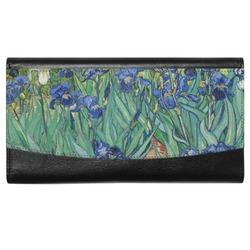 Irises (Van Gogh) Genuine Leather Ladies Wallet