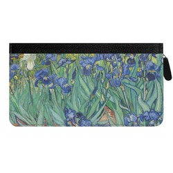 Irises (Van Gogh) Genuine Leather Ladies Zippered Wallet