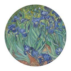 Irises (Van Gogh) Round Desk Weight - Genuine Leather
