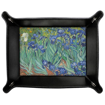 Irises (Van Gogh) Genuine Leather Valet Tray