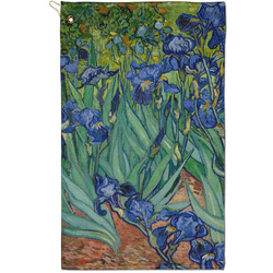 Irises (Van Gogh) Golf Towel - Full Print - Small