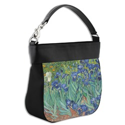 Irises (Van Gogh) Hobo Purse w/ Genuine Leather Trim