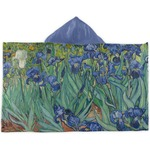 Irises (Van Gogh) Kids Hooded Towel