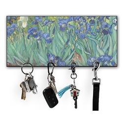 Irises (Van Gogh) Key Hanger w/ 4 Hooks