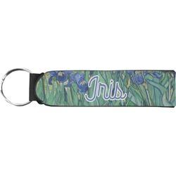 Irises (Van Gogh) Neoprene Keychain Fob