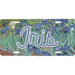 Irises (Van Gogh) Front License Plate
