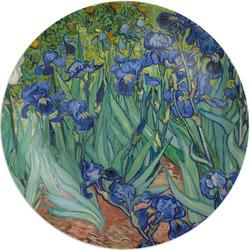 "Irises (Van Gogh) 8"" Melamine Appetizer / Dessert Plate"